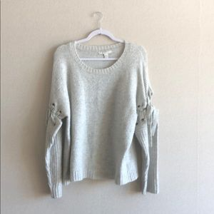 Forever 21 Grey bow sweater